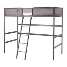 TUFFING Loft bed frame, dark gray - Twin - IKEA