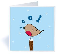 pack of six singing robin christmas cards by made with love by mrs booth | notonthehighstreet.com