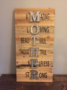 Mother Sign Mothers Day Sign Wall Sign Pallet by ChicksByTheDozen