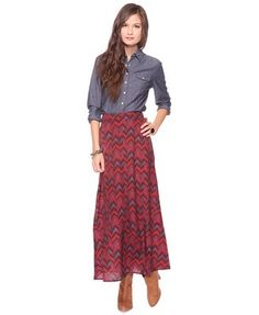 printed woven maxi   Forever 21