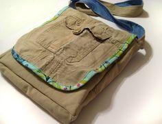 Cargo pants messenger bag tutorial #upcycle #messengerbag #repurpose
