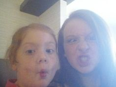 Crazy selfie with my sis