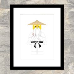 Ninja Sensei Master Print  Child or Adult  Wall by paper4download