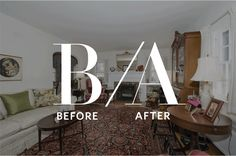 """Before and After: An Outdated Living Room Gets an """"Artfully Bold"""" Update"""