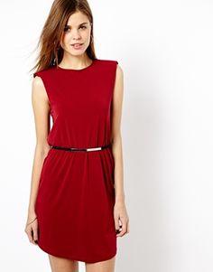 Image 1 ofWarehouse Shoulder Pad Shell Dress