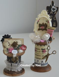 Such beautiful work by Riet!  Ornament idea for the fabric lover