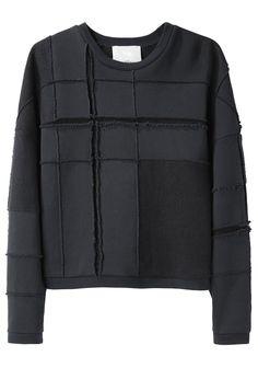 3.1 Phillip Lim ┃ Tromp L'Oeil Plaid Sweatshirt