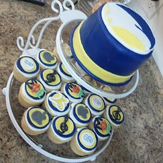 GSU Graduation/Birthday Cake--cupcakes depict things that represent the guest of honor