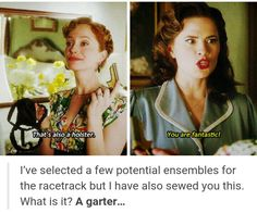 """That's also a holster"" - Ana and Peggy #AgentCarter ((Ana is wonderful))"