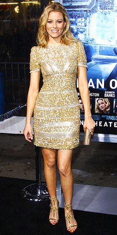 Elizabeth Banks // dress by Emilio Pucci, purse by Jimmy Choo, shoes by Christian Louboutin.