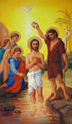 The Baptism Of Jesus Christ Painting  - The Baptism Of Jesus Christ Fine Art Print
