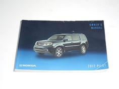 2012 Honda Pilot Owners Manual Book Guide