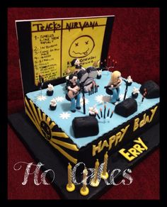 Nirvana birthday cake