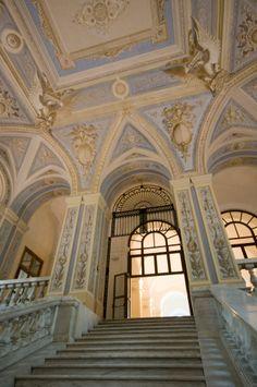 Italy, Bari, University, stairway entrance