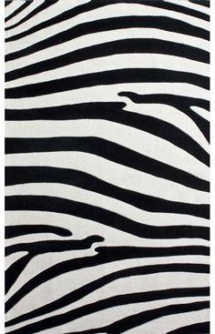 Rugs USA Keno Safari Zebra Black Rug
