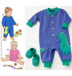 Jumpsuits and Booties Baby Jumpsuit, Jumpsuit With Sleeves, Kwik Sew Patterns, Baby Patterns, Sewing For Kids, Baby Sewing, Sewing Stores, Kids Boys, Little Ones