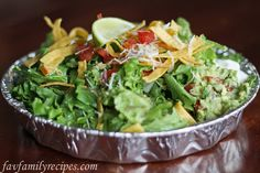Cafe Rio Salad recipe - oh my goodness!  This is exactly like the real thing.   I made this earlier this year for a party - actually had each person bring one item, but use the recipes here and the salads were delicious!!! :)