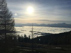 Above the clouds at H12 hotel in Carinthia at Gerlizen Mountain.
