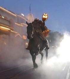 The Headless Horseman at Mickey's Not So Scary Halloween Party.