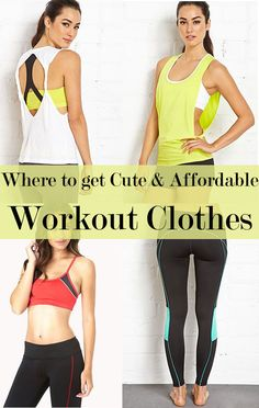 Cute & affordable workout clothes!<3 #fitness