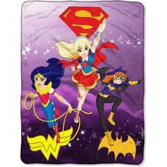 DC Comics Super Hero Girls Soaring Thru the Sky x Micro Raschel Throw Features By The Northwest Company Officially licensed micro raschel throw Size: x polyester Machine washable