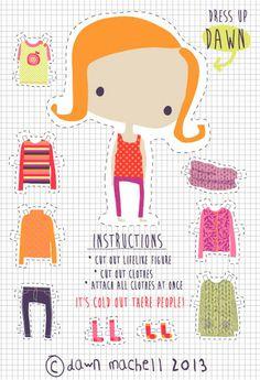 Dress up! Doll Printables