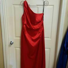 Formal Dress Long one shoulder dress Dessy group  Dresses One Shoulder