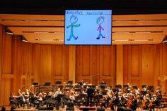 Children's artwork helps tell the story of Peter and the Wolf as the piece is played by the San Diego Symphony as part of a Young People's Concert during the 2009-2010 season.