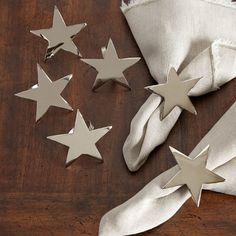 Star Napkin Ring (Set of 4)   Simple and versatile, these star napkin rings jazz up every meal, from celebrations to family dinners. Set of 4.