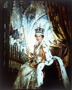 Queen Elizabeth II in Coronation Robes,by Cecil Beaton, June 1953 (c) V images