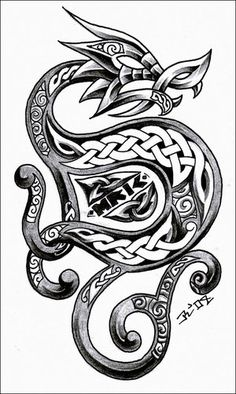 ('S 》》· · · 》》· · ]| Repinned from Viking Celtic ~Dragon tattoo |[