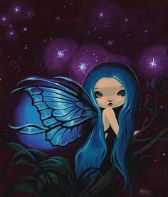 Art: Twinkle Twilight by Artist Nico Niemi Illustration Art Dessin, Illustrations, Fantasy Paintings, Fantasy Art, Fairy Wallpaper, Fairy Tattoo Designs, Fairy Pictures, Cute Fairy, Gothic Fairy