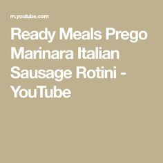 Ready Meals Prego Marinara Italian Sausage Rotini- Prepper Bug Out Bag Meals Survival Videos, Microwave Recipes, Food Storage, Sausage, Meals, Youtube, Power Supply Meals, Meal, Sausages