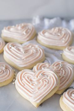 Sour Cream Sugar Cookies are so tender and soft. This cake-like cookie is made rich with sour cream and butter and will so become a family favorite.    #sourcreamsugarcookies  #valentinesugarcookies