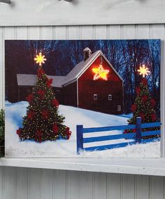 Look what I found on #zulily! Barn & Star Light-Up Canvas #zulilyfinds