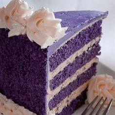 Ube-Macapuno Cake - traditional Philipino cake made with purple yam