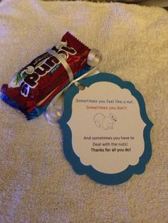 Almond Joy and Mounds bar Employee Appreciation Gifts, Appreciation Quotes, Employee Gifts, Candy Quotes, Candy Sayings, Employee Recognition, Recognition Ideas, Incentives For Employees