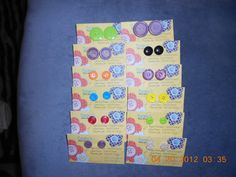Button Earrings by taizee on Etsy, $4.00