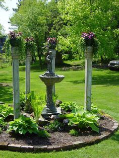 landscaping flower beds | Raised bed with column's. | Landscape-Raised Flower Beds
