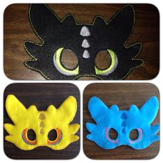 Felt mask dragon night fury dress up choice by BabyGatorDesigns, $8.00