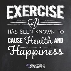 Excercise has been know to cause Health and Happiness at Anytime Fitness Hounslow 3 Day Workout, Workout Memes, Wellness Quotes, Fitness Quotes, Funny Fitness, Fit Board Workouts, Gym Workouts, Monday Motivation, Fitness Motivation
