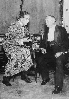 Eille Norwood and Sir Arthur Conan Doyle