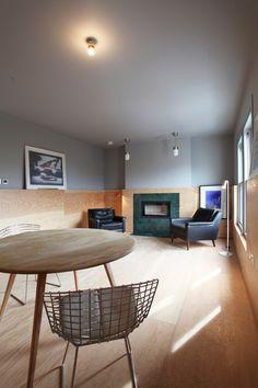 Sulgrave Road Apartments  / Teatum+Teatum plywood wainscot