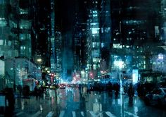 New Cityscape Paintings by Jeremy Mann | Inspiration Grid | Design Inspiration