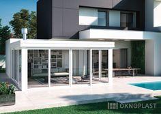 Modern and luxurious villa view from the outside #hst #slidingdoors #oknoplast #windows #design #decor #home #homedecor #view #modern #villa #outside