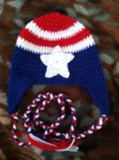 Captain America Beanie on Etsy, $15.00