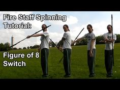 Fire Staff Spinning Tutorial: Figure Eight Switch Bow Staff, Dragon Staff, Karate Kata, Stick Fight, Combat Medic, Self Defense Techniques, Martial Arts Training, Aikido, Survival Skills