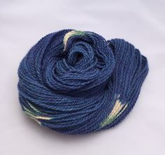 Hand Dyed Small Farm Worsted Weight Alpaca- Azurite Blue by GarnetFiberStudio on Etsy