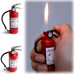 Mini Fire Extinguisher Lighter $9.93  http://www.thisiswhyimbroke.com/minifire-extinguisher-lighter
