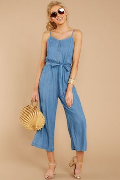30558a55b9c1 30 Best Chambray Jumpsuit images | Catsuit, Fashion dresses, Overall ...